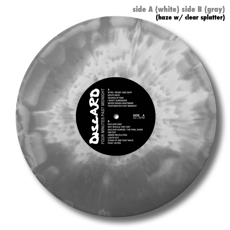 Side A (White) Side B (Gray) Haze w/ Clear Splatter (A)