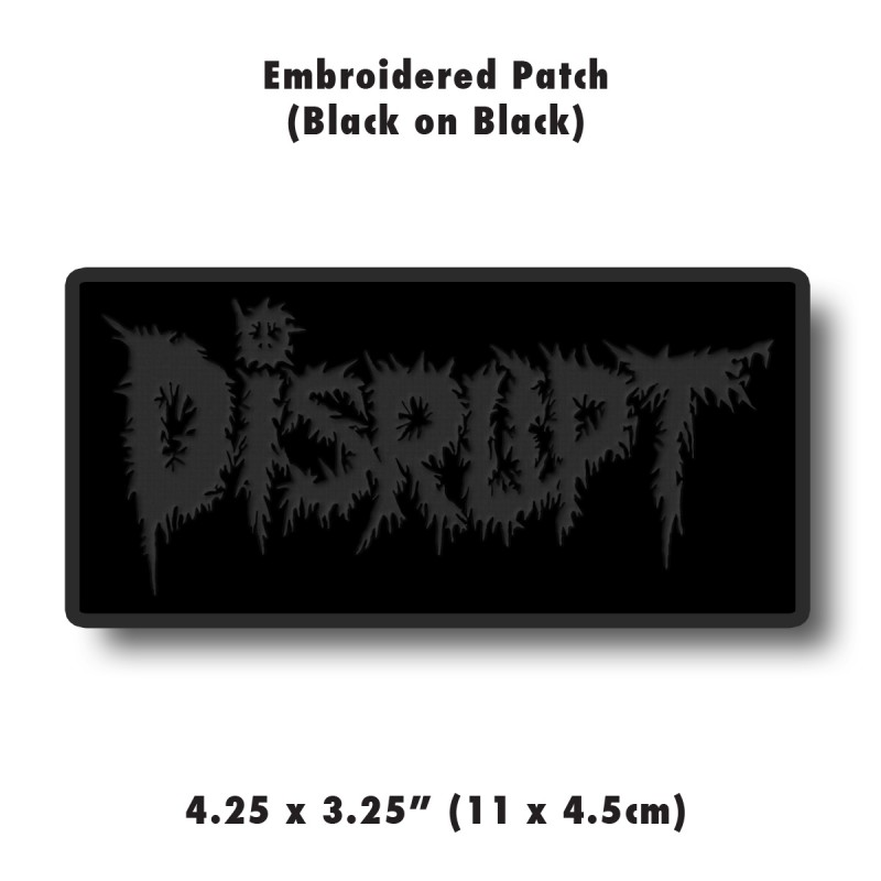 Black Embroidered Patch