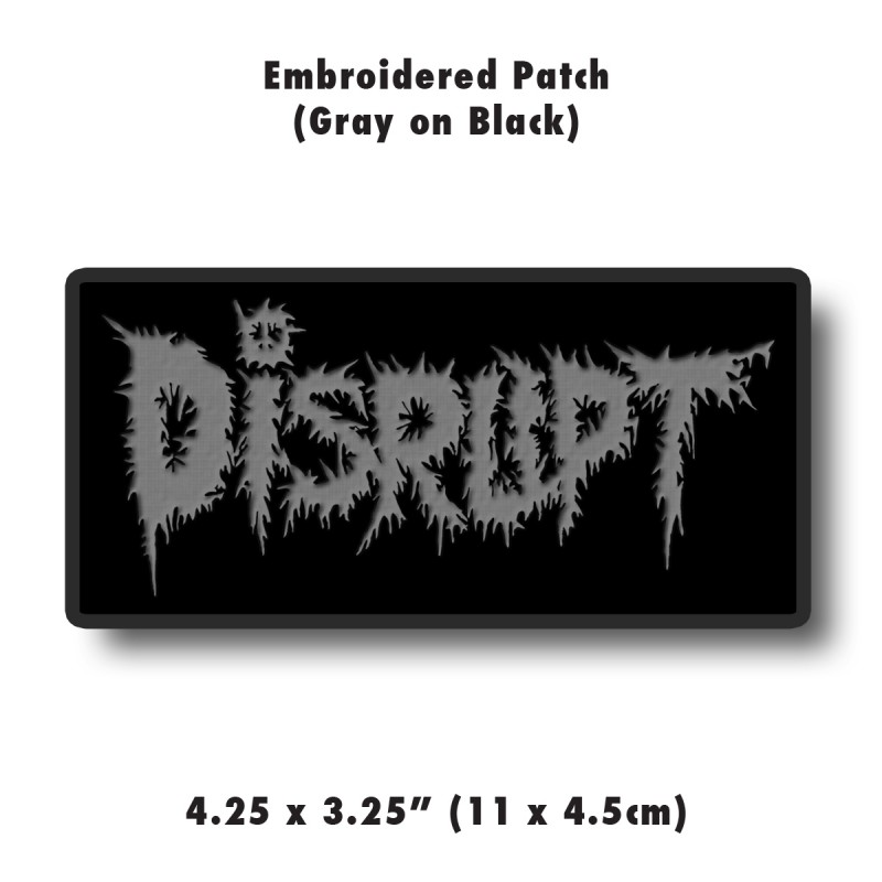 Gray Embroidered Patch