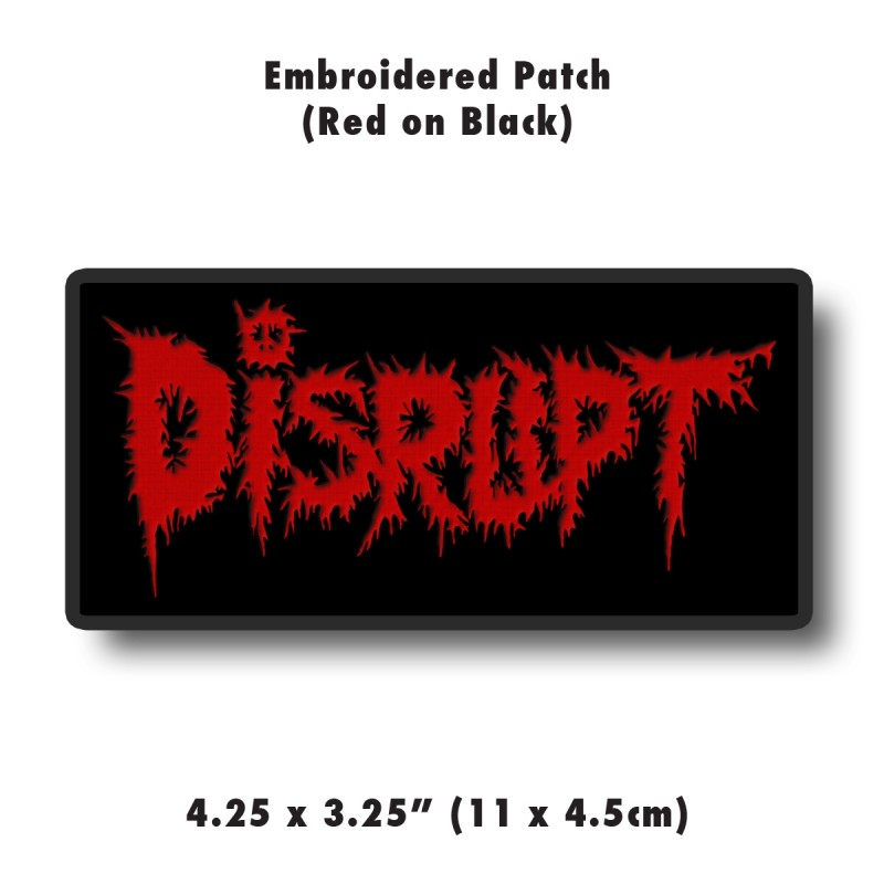 Red Embroidered Patch