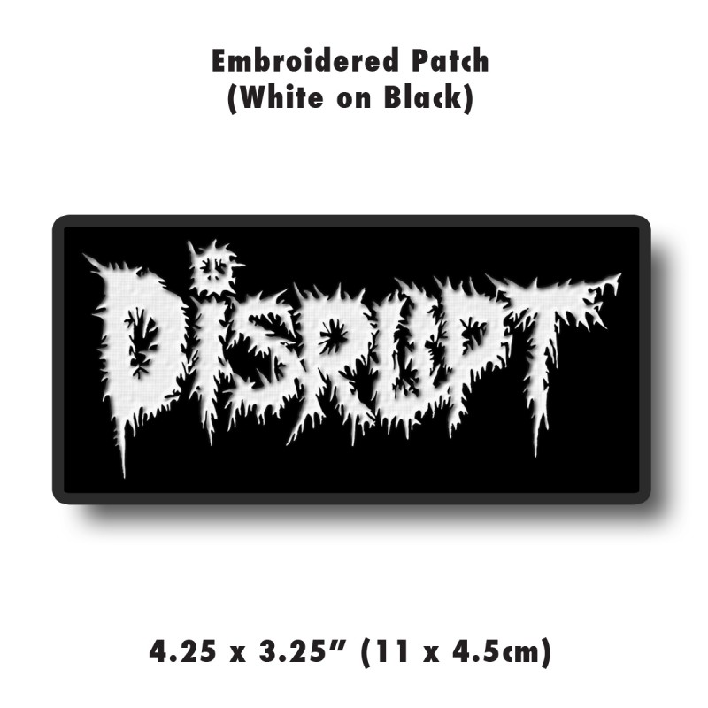White Embroidered Patch